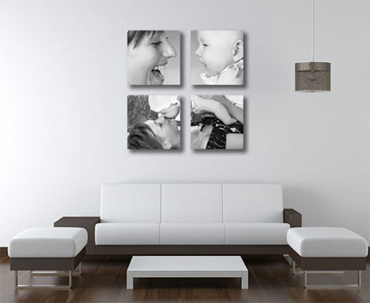 Quad canvas panels to accent your room